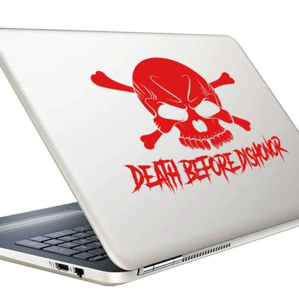 Death Before Dishonor Skull Vinyl Laptop Macbook Decal Sticker
