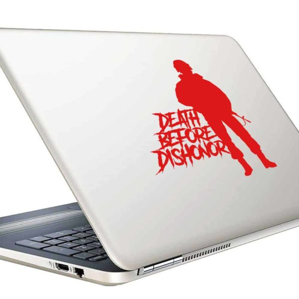 Death Before Dishonor Veteran Soldier Vinyl Laptop Macbook Decal Sticker