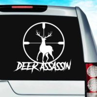 Deer Assassin Deer Hunting Scope Vinyl Car Window Decal Sticker