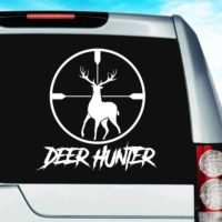 Deer Hunter Deer Rifle Scope Vinyl Car Window Decal Sticker