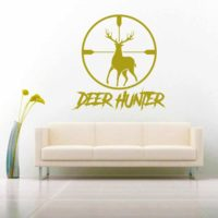 Deer Hunter Deer Rifle Scope Vinyl Wall Decal Sticker