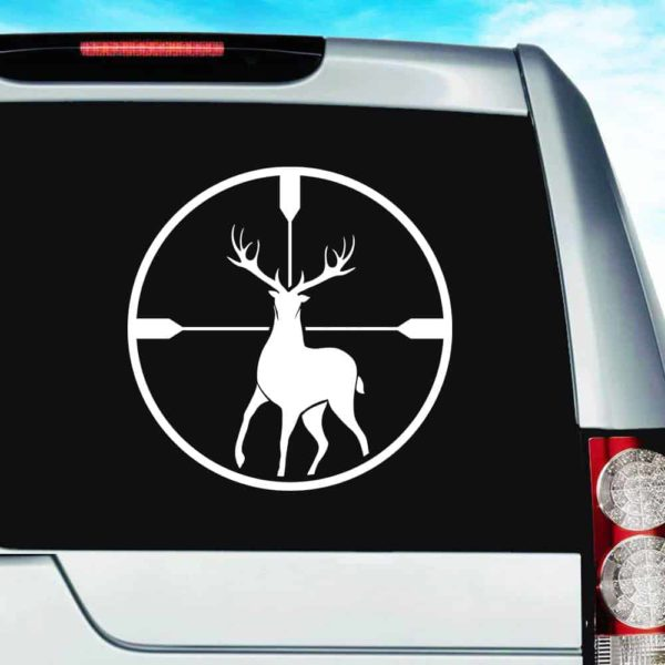 Deer Hunting Scope Vinyl Car Window Decal Sticker