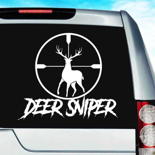 Deer Sniper Deer Hunting Scope Vinyl Car Window Decal Sticker