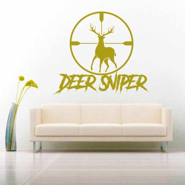 Deer Sniper Deer Hunting Scope Vinyl Wall Decal Sticker