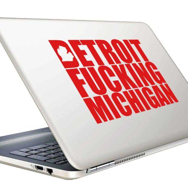 Detroit Fucking Michigan Vinyl Laptop Macbook Decal Sticker
