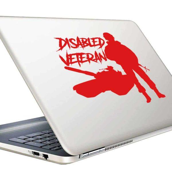 Disabled Veteran Soldier Tank Vinyl Laptop Macbook Decal Sticker