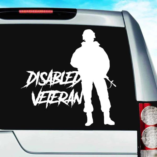 Disabled Veteran Soldier Vinyl Car Window Decal Sticker