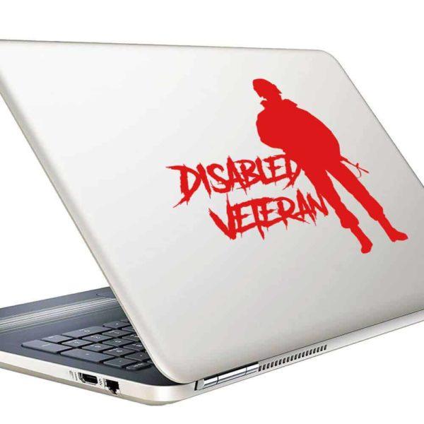 Disabled Veteran Soldier Vinyl Laptop Macbook Decal Sticker