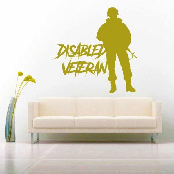 Disabled Veteran Soldier Vinyl Wall Decal Sticker