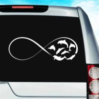Dolphins Infinity Vinyl Car Window Decal Sticker