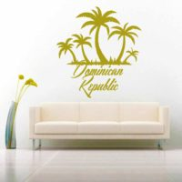 Dominican Republic Palm Tree Island Vinyl Wall Decal Sticker