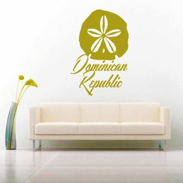Dominican Republic Sand Dollar Vinyl Wall Decal Sticker