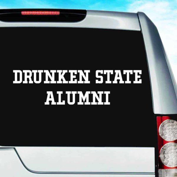 Drunken State Alumni Vinyl Car Window Decal Sticker