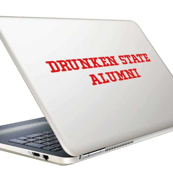 Drunken State Alumni Vinyl Laptop Macbook Decal Sticker