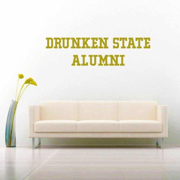 Drunken State Alumni Vinyl Wall Decal Sticker
