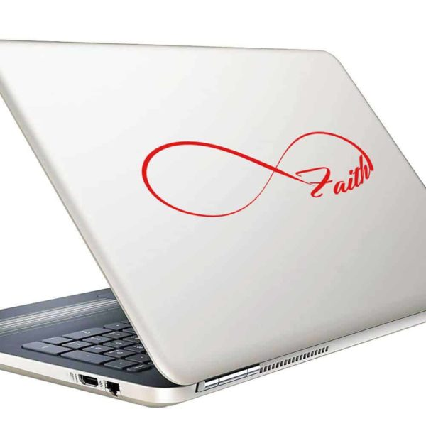 Faith Infinity Vinyl Laptop Macbook Decal Sticker