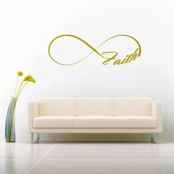 Faith Infinity Vinyl Wall Decal Sticker