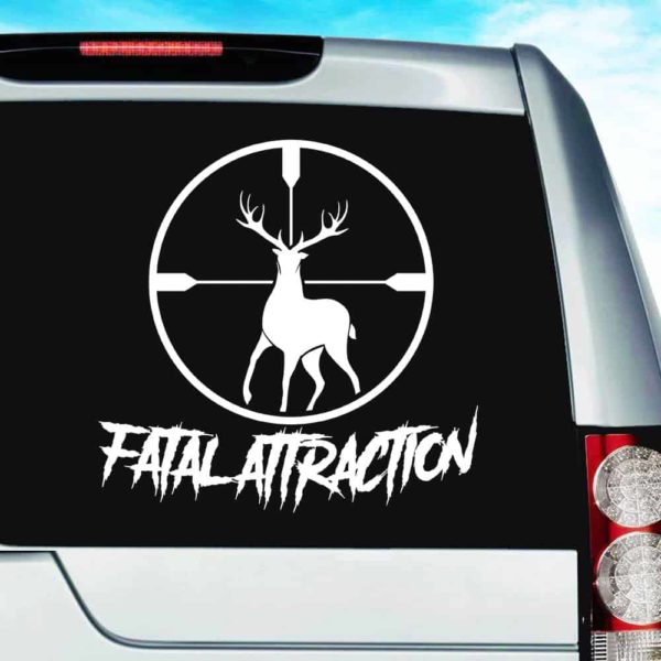 Fatal Attraction Deer Hunting Scope Vinyl Car Window Decal Sticker