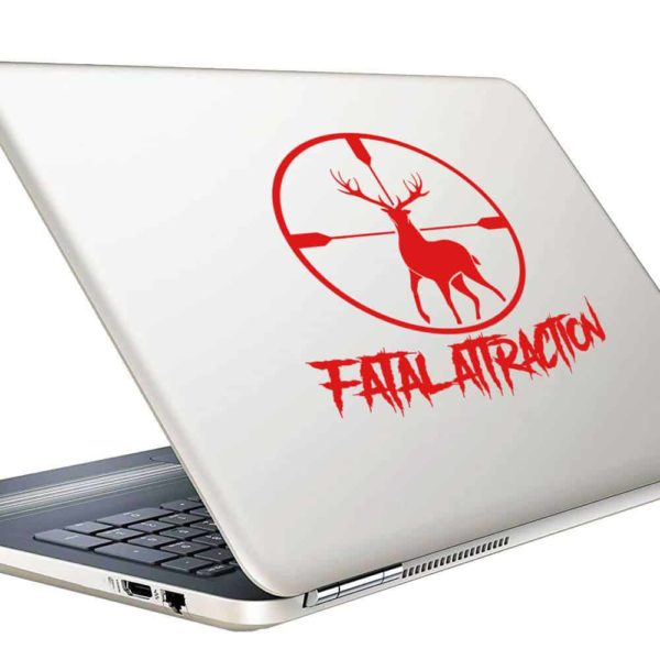 Fatal Attraction Deer Hunting Scope Vinyl Laptop Macbook Decal Sticker
