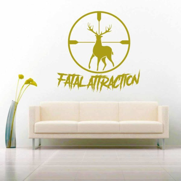 Fatal Attraction Deer Hunting Scope Vinyl Wall Decal Sticker