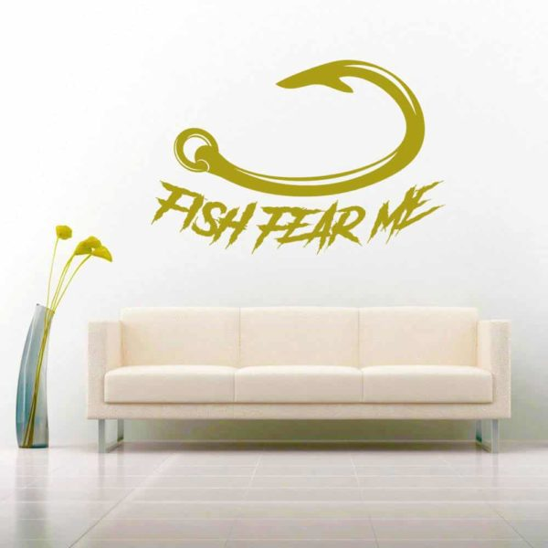 Fish Fear Me Hook Vinyl Wall Decal Sticker