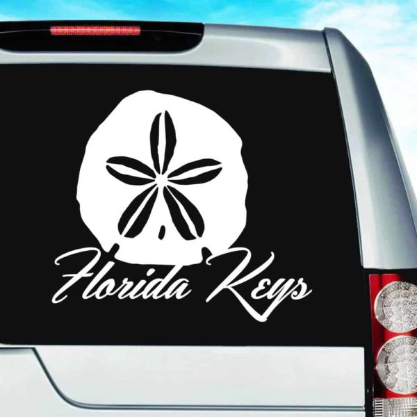 Florida Keys Sand Dollar Vinyl Car Window Decal Sticker