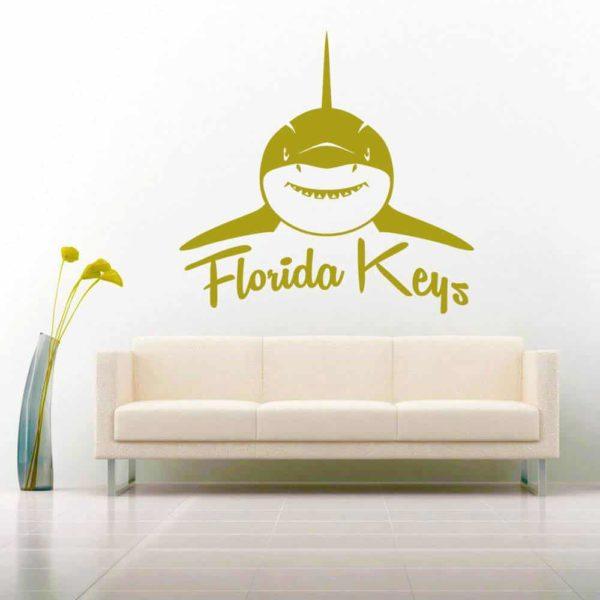 Florida Keys Shark Front View Vinyl Wall Decal Sticker