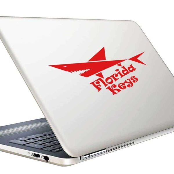Florida Keys Shark Vinyl Laptop Macbook Decal Sticker