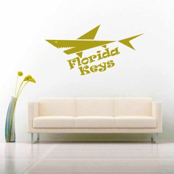 Florida Keys Shark Vinyl Wall Decal Sticker