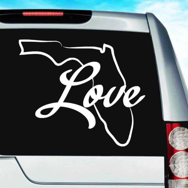 Florida Love Vinyl Car Window Decal Sticker