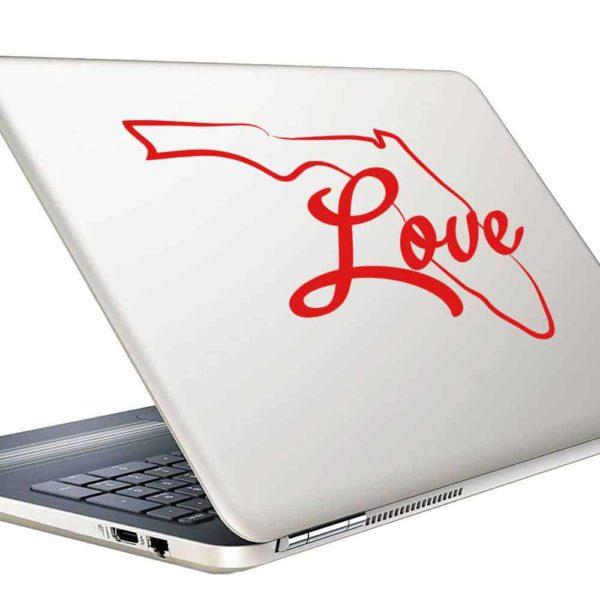 Florida Love Vinyl Laptop Macbook Decal Sticker