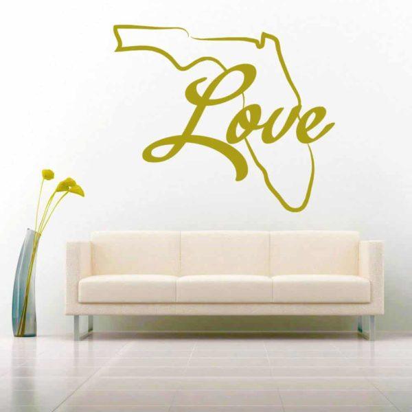 Florida Love Vinyl Wall Decal Sticker