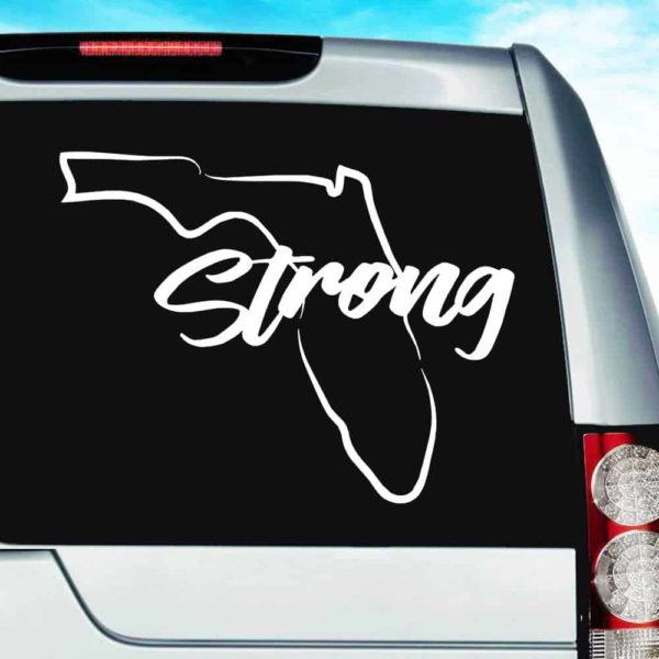 Florida Strong Vinyl Car Window Decal Sticker