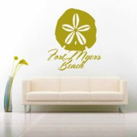 Fort Myers Beach Florida Sand Dollar Vinyl Wall Decal Sticker