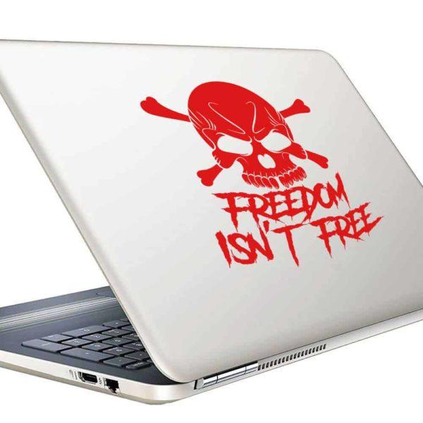 Freedom Isnt Free Skull Vinyl Laptop Macbook Decal Sticker