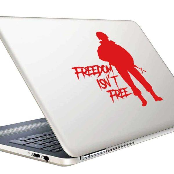 Freedom Isnt Free Veteran Soldier Vinyl Laptop Macbook Decal Sticker