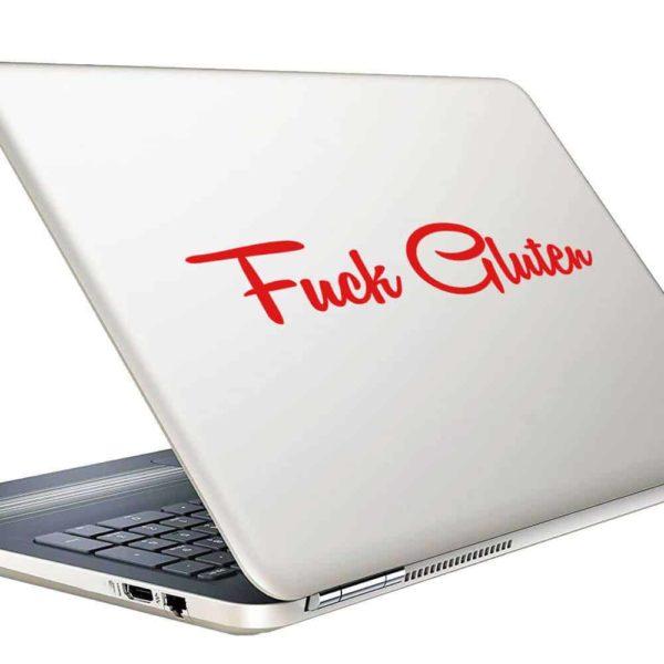 Fuck Gluten Vinyl Laptop Macbook Decal Sticker