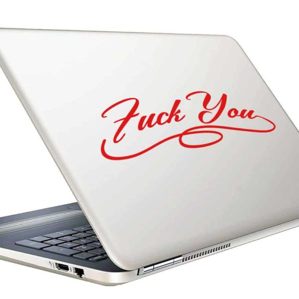 Fuck You Fancy Vinyl Laptop Macbook Decal Sticker