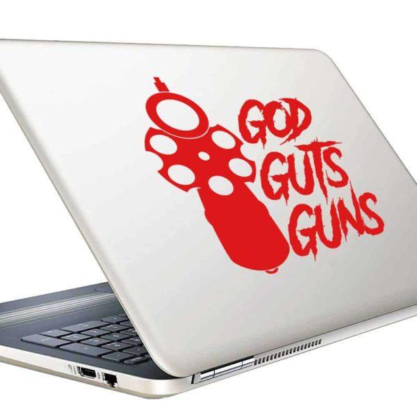 God Guts Guns Pistol Vinyl Laptop Macbook Decal Sticker
