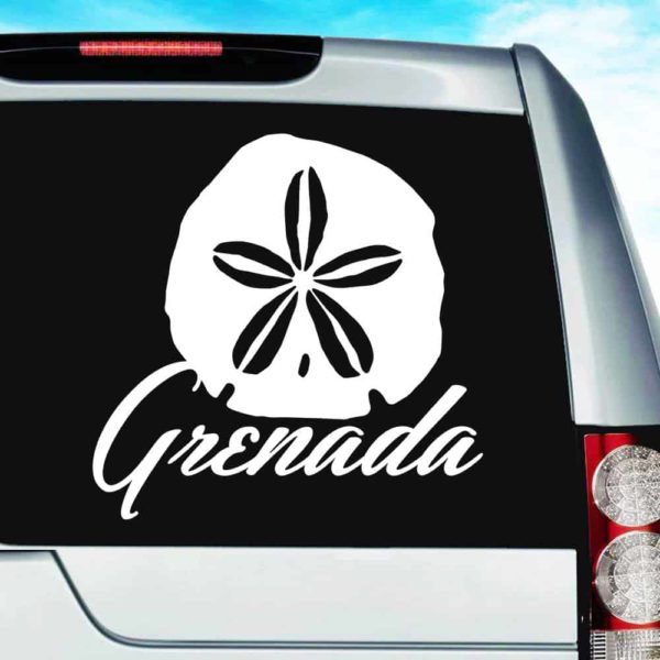 Grenada Sand Dollar Vinyl Car Window Decal Sticker