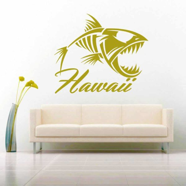 Hawaii Fish Skeleton Vinyl Wall Decal Sticker