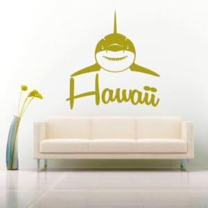 Hawaii Shark Front View Vinyl Wall Decal Sticker