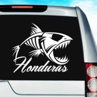 Honduras Fish Skeleton Vinyl Car Window Decal Sticker