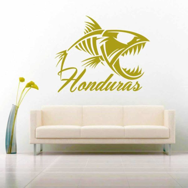 Honduras Fish Skeleton Vinyl Wall Decal Sticker