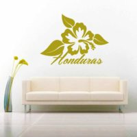 Honduras Hibiscus Flower Vinyl Wall Decal Sticker