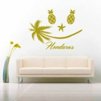 Honduras Tropical Smiley Face Vinyl Wall Decal Sticker