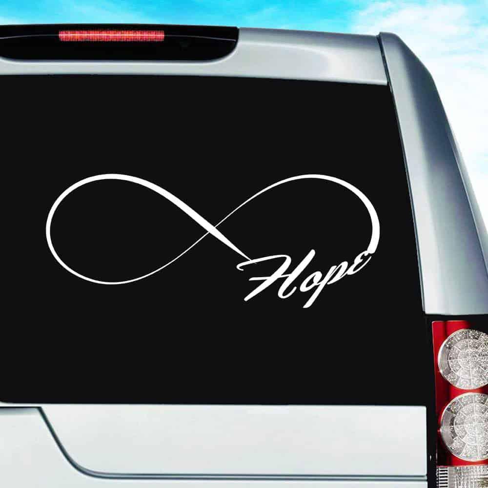Hope Infinity | Inspirational Vinyl Car Window Decal Sticker