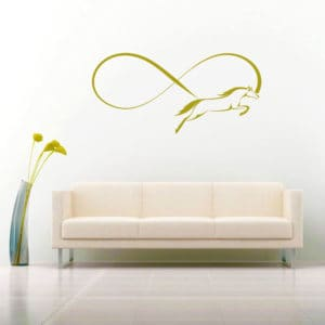 Horse Infinity Vinyl Wall Decal Sticker
