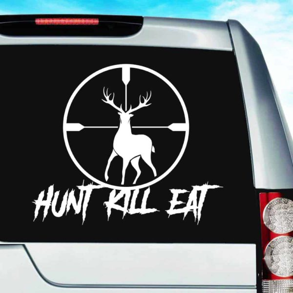 Hunt Kill Eat Deer Hunting Scope Vinyl Car Window Decal Sticker