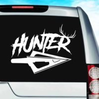 Hunter Antlers Arrow Tip Vinyl Car Window Decal Sticker